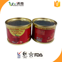 2015 Crop 22-24% Hot Sale CRIA Certificated LOVIA BRAND All Kinds Of Tomato Paste In Cans 70g Hard Open