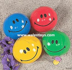 Inflatable Smiley Face Beach Balls /Beach Pool Balls Smiley Face Inflatable 7 Inch Mini