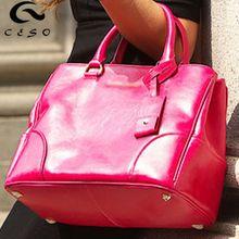 Factory production korean leather handbag elegant design