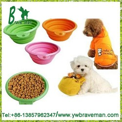 Prima Pet Expandable / Collapsible Silicone Food & Water Travel Bowl