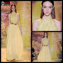 2014 Elegant Halter Sequins Long Chiffon Evening Dress For Sale