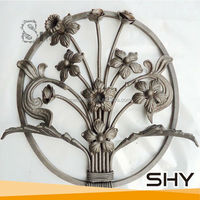 2014 Outdoor Decorative Ornamental Forged Steel Rosettes Designs