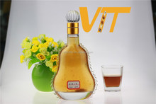 Diseño clásico de vidrio botella de vino de la botella de licor