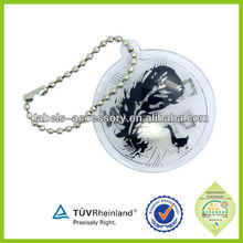 Custom Clothing Printed down inflatable hang tag with metal chain