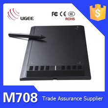 Ugee M708 Art Graphics Drawing Tablet Cordless Digital Pen for PC Laptop Computer