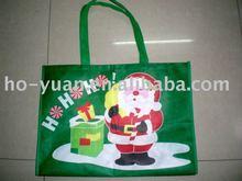 Promotional xmas non-woven handle shopping bag
