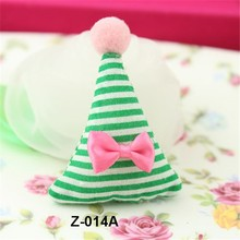 2015 new Handwork striped bow tie cloth christmas children Hair ornaments with high quality