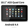 2015 Andriod 4.4 Allwinner A33 quad core 10 inch tablet pc 1G/16G double camera