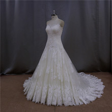 Trendy fishtail gown iridescent complete hand made wedding dresses