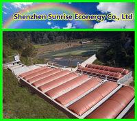 Methane storage for biogas plant