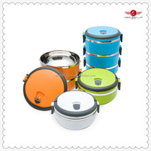 promotional stainless steel plastic food storage box stackable plastic container box