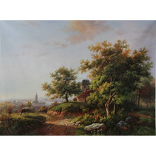 New Arrival Classic Farm Animal Landscape Oil Painting for decoration