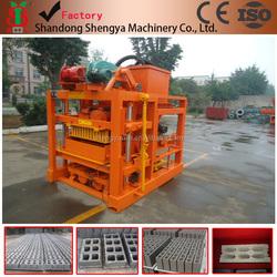 QTJ4-26 semi-automatic concrete hollow block making machine for 4inch,6inch,9inch hollow block