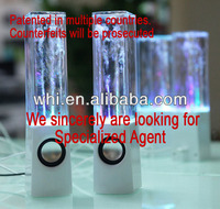 The third generation of mini led light dancing water speaker,don't spill