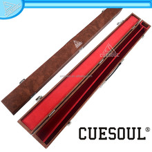 CUESOUL 32 inch Wooden Pool Cue Billiard Cases covered with artificial leather, pool cue case for sale