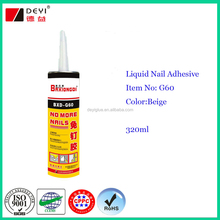 High quality bond nail glue,no more nails, liquid nail adhesive