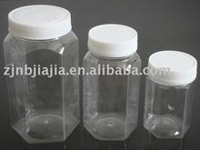 250g to 1000g Food Grade Hexagon Plastic Jar