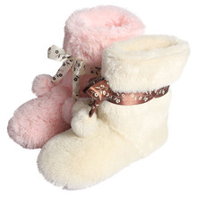 New design Faux fur TPR out material half boot 2015