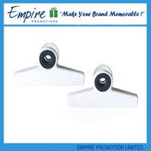 White promotional design plastic spring office heavy duty paper clip