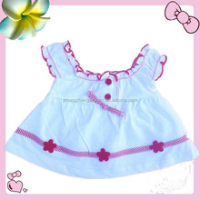 apparel stock baby girl's little dress baby's designed wear color white with embroidery