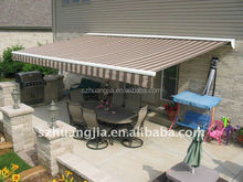 Motorized retractable caravan awnings / sliding awning / steel patio awning