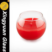 wax glass custom candle holder candle bowls