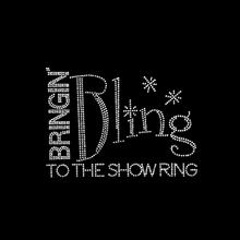 Bling bringin to the show ring rhinestone transfer embelishment motif design