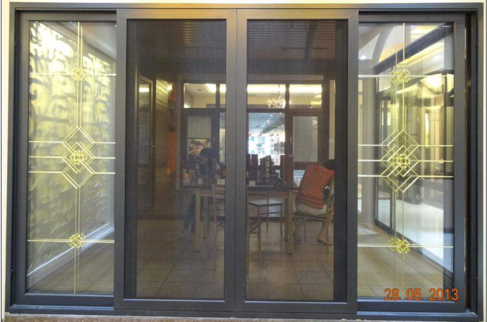 Guangzhou en aluminium peinture couleurs portes ext rieures pour villa portes - Portes fenetres coulissantes exterieures ...