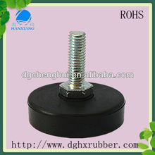 ROHS approved multifuntional shock absorber rubber feet with adjustable screw
