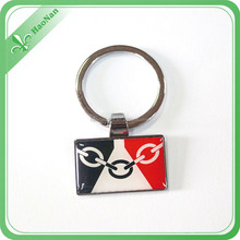 Customized promotional popular metal key chain and multi-shape key chain