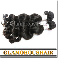 Cambodian Hair Free Hair Weave Samples Natural Wave Natural Black
