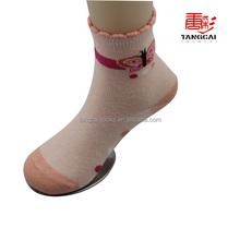 CSP-139 Custom Wholesale Cotton Children Socks with Beautiful Bow