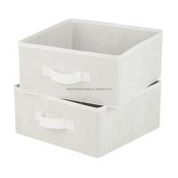 canvas storage box folding fabric storage cube jute storage bin