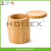 Reusable bamboo/wooden salt container/ HOMEX - BSCI