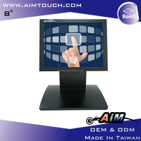 8 inch Resistive Desktop Display square touch screen lcd monitor 1024x768