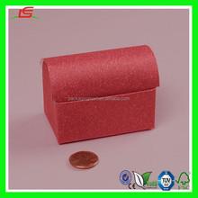 NZ065 Natural Fiber Treasure Chest Wedding Favor Boxes Choc Paper Packing Box