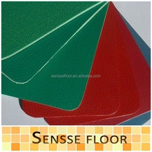 PVC outdoor sports flooring made in China with all kinds of color