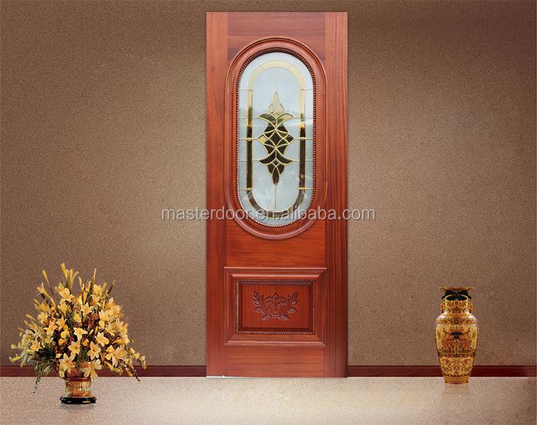 malasia talladas a mano de madera puerta con cristal