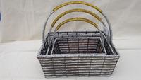 hand made straw basket set 3pcs