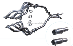304 stainless steel exhaust header + off road for chevrolet camaro