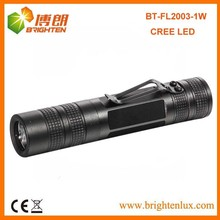 Factory Wholesale Long Time 1*aa Power Aluminum Material Emergency Pocket Size 1w Cree led Metal Torch with Clip