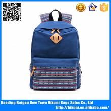 moda Kore tarzı tuval sırt çantası tek omuz çantası