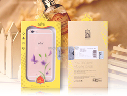 Promotion Gift Ordinary Love Series IMD Intramode Soft TPU Case with diamond for iPhone 6S/6S Plus