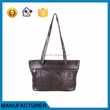 Lady genuine leather hand bag cheap bag manufacturer