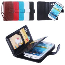 2015 hot selling separable case for S3, wallet Leather Flip Case for S3 with 9 slot.