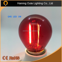 Glass pendant light 220v led glass cover bulb G45 edison bulbs E27,Christmas tree decorations,g45 led edison bulb