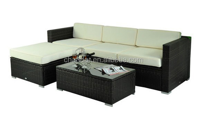 Rattan set sof ao ar livre conjuntos de sof de vime for Conjunto rattan sintetico barato
