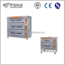Hot Sale Output 60kg/h Stainless Steel Sheet Gas and Electric 3 layer Deck Oven