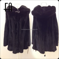 Factory direct wholesale lady's fashion mink fur garment/mink coat