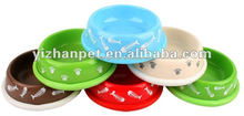 high quality melamine pet bowl of multiple color
